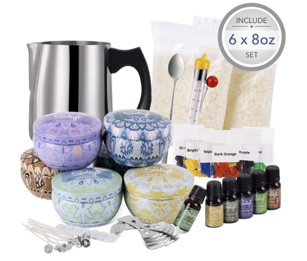 Complete Candle Making Kit by SOLIGT - best candle making kits