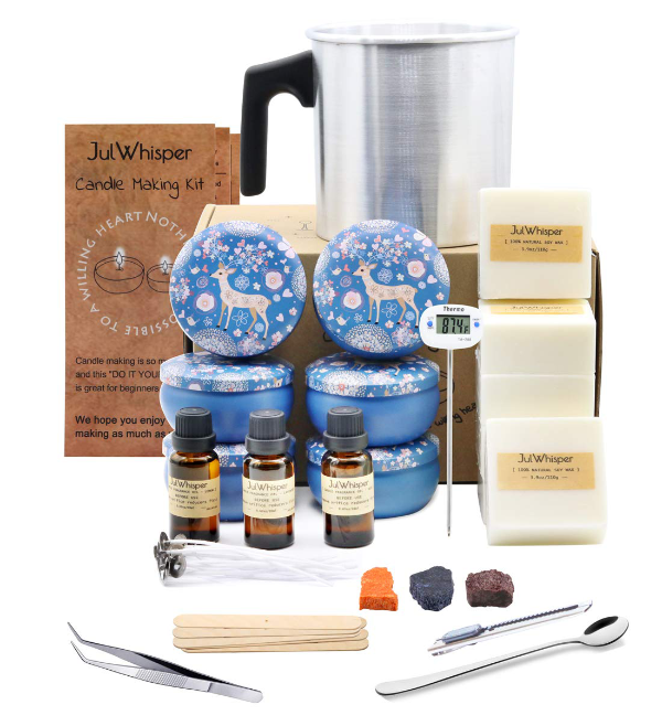 Complete Candle Making Kit by JulWhisper - best candle making kits