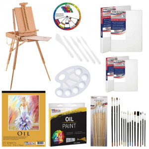 U.S. Art Supply 63 Piece Oil Artist Painting Kit