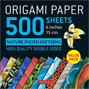 Origami Paper 500 sheets Nature Photo Patterns 6-inch (15 cm) by Tuttle Publishing