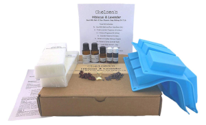 Hibiscus and Lavender Goat Milk Glycerin Soap Making Kit by Chelseas