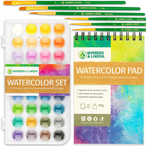 Watercolor Paint Set by Free Hand - best watercolor paint set