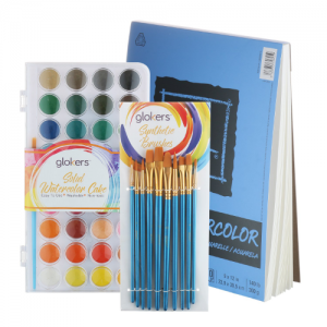 glokers Watercolor Paint Set Starter Kit - best watercolor paint set
