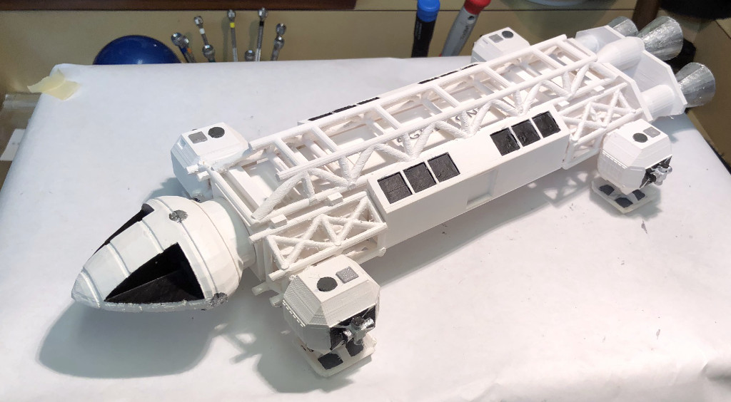Space: 1999 Eagle printed with the Dremel 3D20